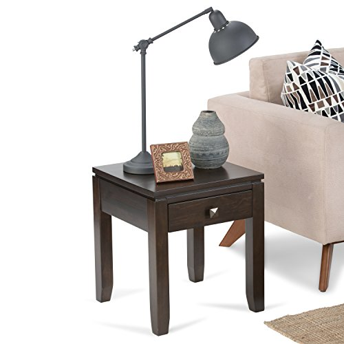 Simpli Home Cosmopolitan Solid Wood End Table, Coffee Brown by Simpli Home (Image #1)
