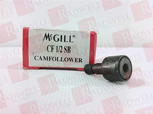 MCGILL CFH 1//2 SB 0.2500 in Stud Dia 0.5000 in Roller Dia Flat CAM Follower Flat 0.3750 in Roller Width 0.6250 in Stud Length Heavy Stud Type