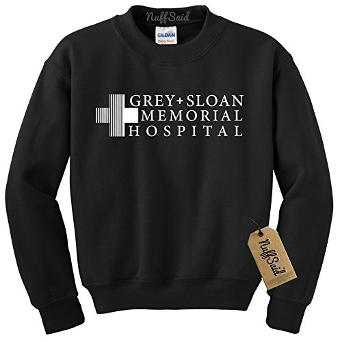 Hospital Sweatshirt Sweater Crew Neck Pullover - Premium Quality (3XL, Black) ()