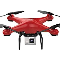 RC Drone L500 720P WiFi FPV Wide 0.3MP HD Camera 2.4GHz 6 Axis Gyro RC Quadcopter Selfie Drone (Red)