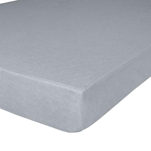 """IDEAhome Jersey Knit Twin XL Size Fitted Bottom Sheets, 39"""" X 80"""" with 14"""" Deep Pocket, Ideal for Twin XL Bed Mattress or Split King Adjustable Bed, Hypoallergenic, Grey, Pack of 1"""
