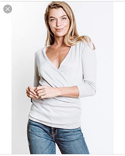 - Michael Stars Womens Surplice Top, O/S, Grey