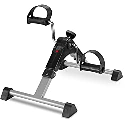 TODO Pedal Exerciser Foot Peddler Desk Bike Foldable with LCD Monitor