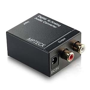 Convertidor digital de audio analógico coaxial óptico