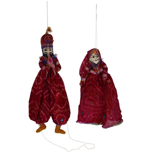 [Rag dolls costumes personalized Marionette string puppets Indian katputli] (Costume Puppet Strings)