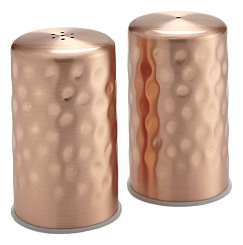 (American Metalcraft CHSP2 Salt and Pepper Shaker Set, Hammered, Copper, 2oz. Capacity, 1-1/4