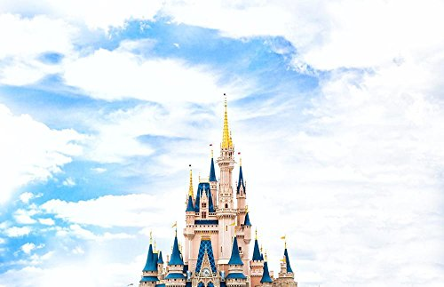 LAMINATED 37x24 inches Poster: Architecture Castle Cinderella Castle Disney World Sky Walt - World Disney Posters Walt