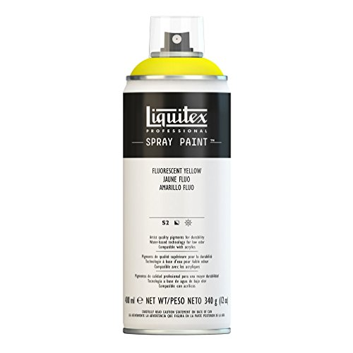 Liquitex Professional Spray Paint 12-oz, Fluorescent Yellow ()