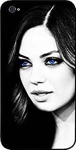 Mila Kunis-Blue Eyes -Hard Black Plastic Snap - On Case-Apple Iphone 4 - 4s - Great Quality!
