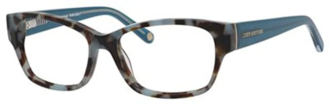 Amazon.com  JUICY COUTURE Eyeglasses 136 0YJ6 Blue Havana 51MM  Clothing db4655cbb6