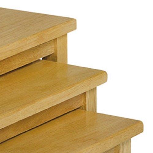 julian bowen cleo nest of tables light oak finish buy. Black Bedroom Furniture Sets. Home Design Ideas