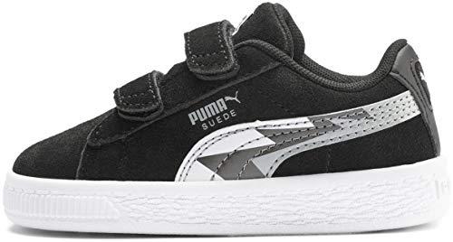 PUMA Baby Suede Classic Velcro Sneaker Black-Dark Shadow, 8 M US Toddler]()
