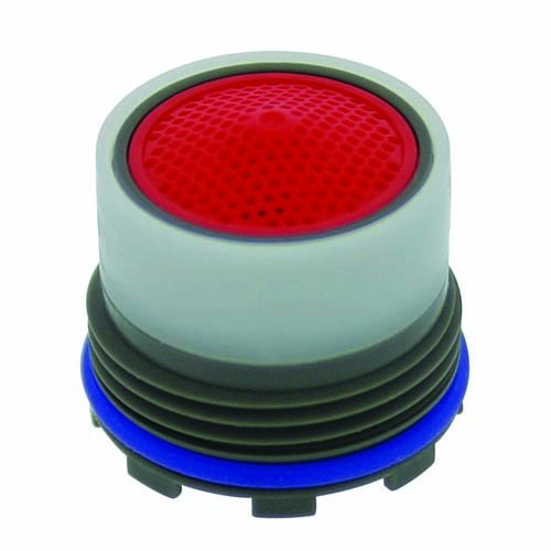 Neoperl 13 0000 2 Standard Flow Cache Perlator HC Aerator, Tom Thumb Size, 2.2 GPM, Red Dome, Honeycomb Screen, Aerated Stream, M16.5 x 1 Threads, Plastic, 0.591'' Height (Pack of 6) by Neoperl