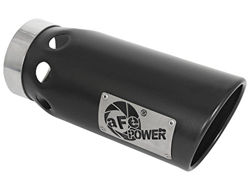 aFe Power 49T40501-B121 Black Stainless Steel Intercooled (Intercooled Stainless Tips)
