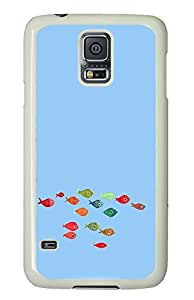 Samsung Galaxy S5 thinnest covers Funny Fish PC White Custom Samsung Galaxy S5 Case Cover