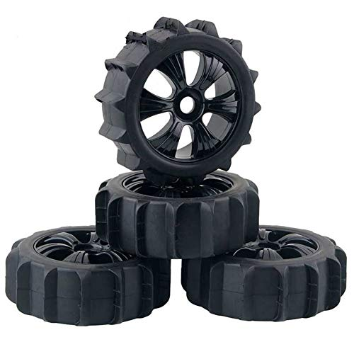 1/8 Off Road Buggy - LAFEINA 1/8 Scale RC Off Road Buggy Snow Sand Paddle Tires and Wheels 4PCS/Set(Black)