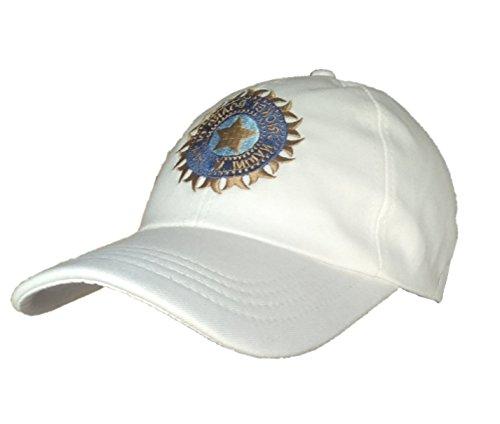 ARFA Unisex Cotton Team India ODI T-20 Cricket Supporter Cap, Large (White) - 1 Piece