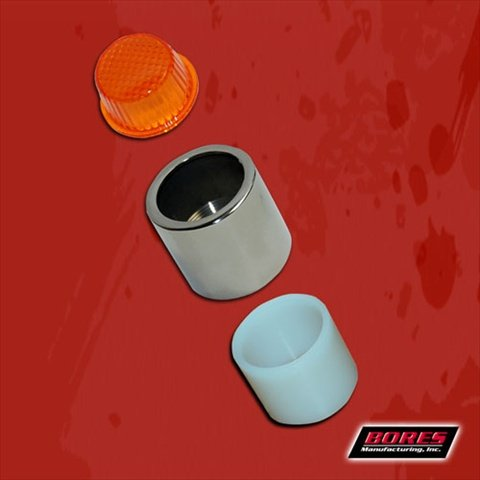 Tail Light Cap Amber (Bores Guide 1300 Replacement Amber Lens with Threaded Lens Cap and Spacer)