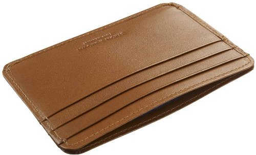 Tan Leather Credit Card Holder by Byron and Brown