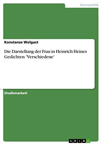Amazoncom Die Darstellung Der Frau In Heinrich Heines