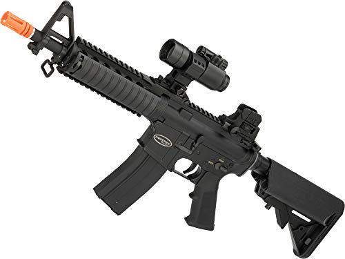 Evike Matrix Full Metal Gas Blowback Airsoft Rifle with Western Arms Gas System (Model: M4 CQB RAS II) (M4 Airsoft Gas)