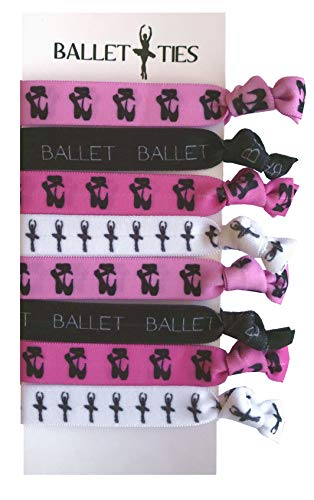 Dance Gift Set (8 Piece Ballet Hair Elastic Set - Accessories for Ballet Dancers, Women, Girls, Ballet Dance Teachers, Ballet Dance Classes - MADE in the USA)