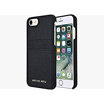 46d0a1f4b4b103 Michael Kors Saffiano Leather Pocket Case for iPhone 8 & iPhone 7, Black