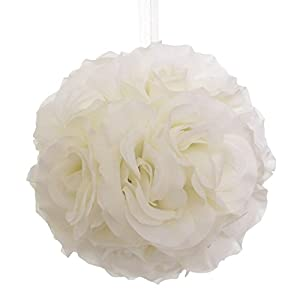 Silk Flower Kissing Pomander Balls Wedding Centerpiece - 8 inches 52