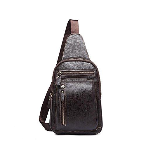 Brown Pecho sola del bolso general Cruz cuero paquete oblicua penao paquete pequeña hombres par bandolera moda Cruz CdREqxnwa