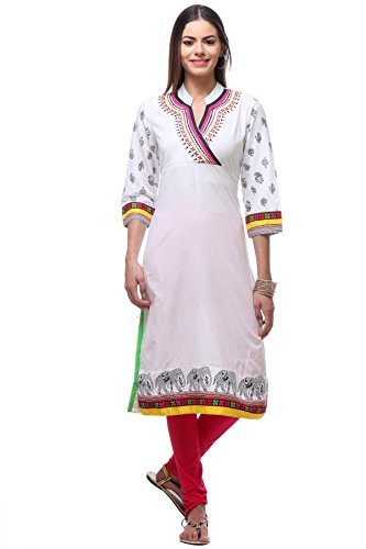 In-Sattva-Womens-Indian-Elegant-Elephant-Print-Kurta-Tunic-White-LG