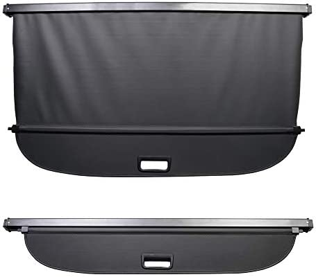 Powerty Escape Cargo Cover Rear Trunk Shade Retractable Trunk Shield Luggage Tonneau Security Cover for Ford Escape 2020 2021 Black
