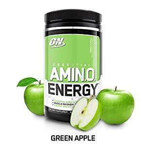 OPTIMUM NUTRITION ESSENTIAL AMINO ENERGY, Green Apple, Preworkout and Essential Amino Acids with Green Tea and Green Coffee Extract, 30 Servings 9.5 ounces