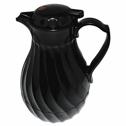 Hormel Poly Lined Carafe, Swirl Design, 64 oz. Capacity, Black