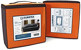 subrtex 1 Pieza Funda Sofa Elasticas Fundas de Sofa Antideslizante Cubierta Forros para Sofas Anti Arañazos Ajustable Protector (4 Plazas, Naranja)