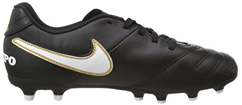Nike JR Tiempo Rio III FG, Botas de Fútbol para Niños Negro (Black/white)