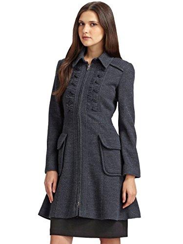 Nanette Lepore Provocative A-Line Coat, Gray/Blue, 10