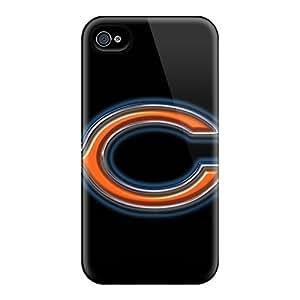 Iphone 4/4s KmY18379uVno Allow Personal Design Trendy Chicago Bears Pattern Durable Hard Phone Covers -JamieBratt