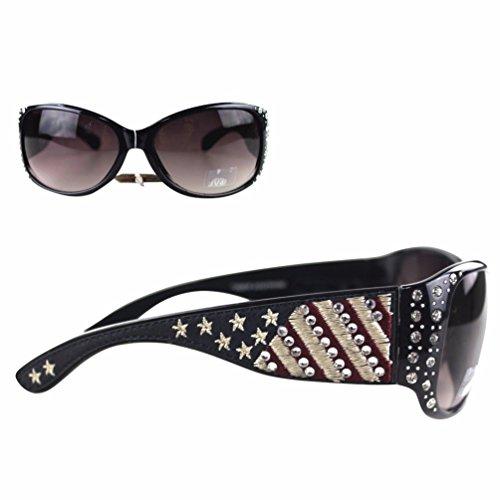 Montana West Ladies Sunglasses American Pride US Flag Stars and Stripes UV400, - Navy Us Sunglasses
