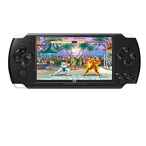 JXD 4.3 inch 8GB Handheld Portable Game Console Built in 1200+Real Video Games for gba/gbc/SFC/fc/SMD Games mp3/mp4/mp5/DV/DC Function (Black)
