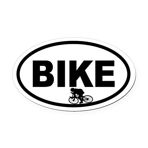 CafePress - Cycling Racer Oval Car Magnet - Oval Car Magnet, Euro Oval Magnetic Bumper ()