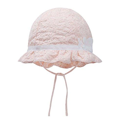 vivobiniya-baby-girl-pink-bowknot-sun-hats-newborn-summer-spring-hats-cotton-42cmhead-circumference-