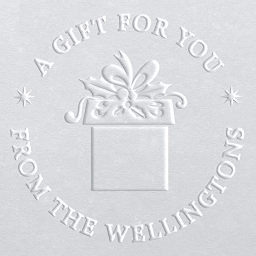 Circular Embosser | Holiday Embosser | Customizable Embosser | Christmas Embosser | Custom Seal | Personalized Embosser | Name Embosser | Gift