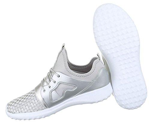 36 41 Freizeitschuhe Gold Runner Damen 37 Silber Silber Schwarz Schuhe Sportschuhe 40 Pink Sneakers 38 39 zBU1Hqw