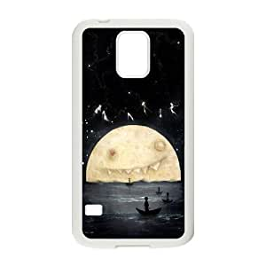 Moon Art Pattern Protective Case 32 For Samsung Galaxy S5 At ERZHOU Tech Store