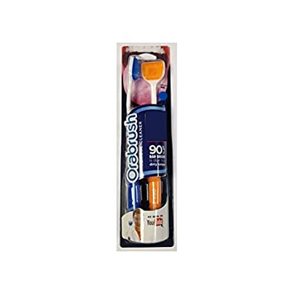 OraBrush el limpiador para la lengua que combate el mal aliento (Pack 2 unidades): Amazon.es: Salud y cuidado personal