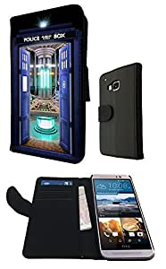 Doctor Who Tardis Call Box Travel Machine 249 Design htc one M9 Fashion Trend Full Case Book Style Flip cover Defender Credit Card Holder Pouch Case Cover iPhone Wallet Purse