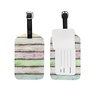 93be6729363c high-quality MAPOLO Colorful wooden Planks PU Leather Luggage Tags ...