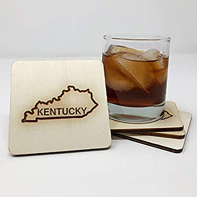Coasters for Drinks | Kentucky (4-Piece Set) - Drink Coaster - Unique Gift Idea for Home 12063