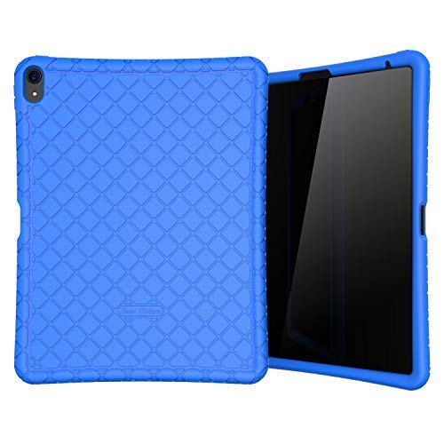 Bear Motion Silicon Case for iPad Pro 12.9 2018 Shockproof Silicone Protective Cover (Does NOT Support Apple Pencil 2 Charging) (iPad Pro 12.9 2018, Blue)
