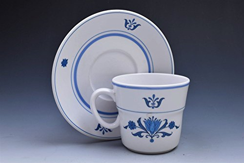 - Noritake Progression Japan Blue Haven 9004 Cup and Saucer